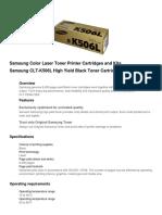 Samsung Color Laser Toner Printer Cartridges and Kits.docx