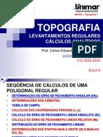 200784-TOPOGRAFIA I - AULA 06 - Levantamentos Regulares (1).pdf