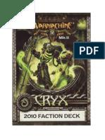 Cryx Mk II Cards