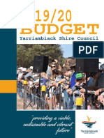 Yarriambiack Shire Council Budget Draft 19-20