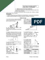 Ficha Aplicaciones de Las Leyes de Newton