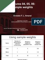 Ernesto L. Amaral - Sample Weights (Texas a y M. University)