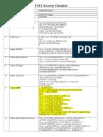 HP-UX Security Checklist