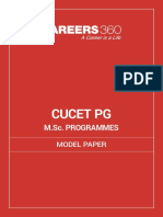 CUCET MSc Programmes