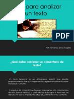 1 Guía Para Analizar Un Texto