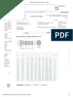 Dimensiones Tornillo Allen DIN 912 - Valvias