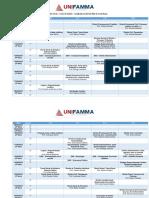 Calendário de Provas - 1° Bimestre - 6° Semestre de Direito UNIFAMMA - Março 2019