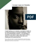 A Violencia y La Mujer Negra en Colombia
