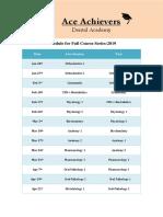 Schedule for Full Preparation NEET 2020 B 001