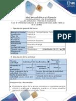 Guía de actividades y rúbrica de evaluación - Fase 4 - Presentar solución al problema de luces audio rítmicas de 3 canales