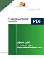 Rapport sur la Cooperation au Développement 2009-2010