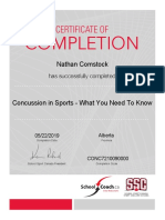 coaching - certificate concussions