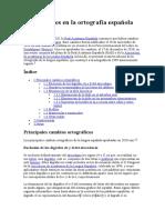 Innovaciones en La Ortografía Española