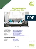 Unterkunftsempfehlungen GI Frankfurt