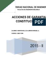 GARANTIAS CONSTITUCIONALES. Resumen