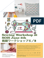 SOIS Sewing Workshop Advertisement