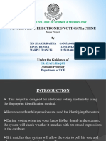 finger print electronics voting machine (EVM)