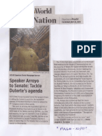 Business World, May 23, 2019, Speaker Arroyo to Senate Tackle duterte's agenda.pdf