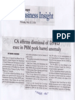 Malaya, May 23, 2019, CA affirms dismissal of DSWD exec in P8M pork barel anomaly.pdf