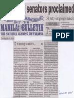 Manila Bulletin, May 23, 2019, 12 winning senators proclaimed.pdf