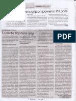 Manila Times, May 23, 2019, Duterte tighens grip on power in PH polls.pdf