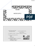 Water supply  and severe system Course slides