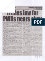 Peoples Journal, May 23, 2019, Trenas law for PWDs nears okay.pdf