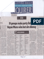 Philippine Daily Inquirer, May 23, 2019, 51 groups make party list cut Bayan Muna wins but airs dismay.pdf