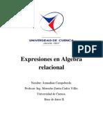 Expresiones en Algebra Relacional