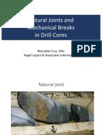 breaks in drill cores