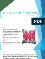 Division of Fraction Problem Solving