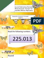 Math - Adding and Subtracting Decimals and Mixed Decimals