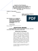 Position Paper (Illegal Dismissal)