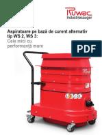 Aspirator industrial Ruwac - date tehnice