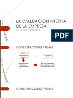 La Evaluación Interna de La Empresa y Cadena de Valor