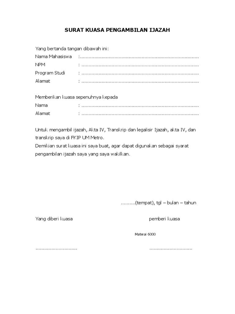 Surat Kuasa Pengambilan Ijazah1doc