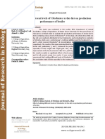 Effect of adding different levels of Oleobiotec to the diet on production performance of broiler