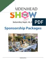 maidenheadshow sponsorshipopportunities