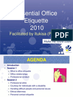 Office Etiquette 2010 Speaker Slides V3