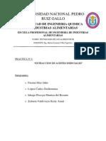 Practica N°1 - Extracción de Aceites Esenciales.