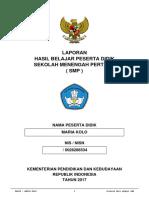 Pelengkap Rapor MARIA KOLO 20171