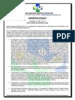 Anti Hospital Deposit Law