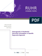Heterogeneity in Residential Electricity Consumption- A Quantile Regression Approach