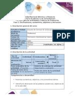 Guía de Actividades y Rúbrica de Evaluación - Fase 2 - Declinar, Sustantivos, Adjetivos y Derivación