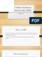 Civil Military Relations in Pakistan After 2008