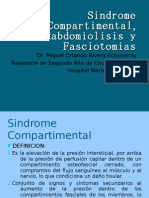 Sindrome Compartimental, Rabdomiolisis y Fasciotomias