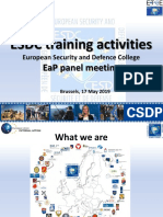 2019 05 17 - EaP Panel - ESDC Training Activities
