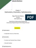 03-Hydrostatics, Hydrokinematics, Hydrodynamics