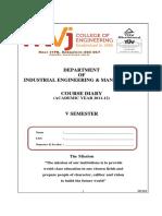 course dairy for V semester.pdf