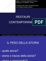 Fondamenti di restauro - RestauriContemporanei 2